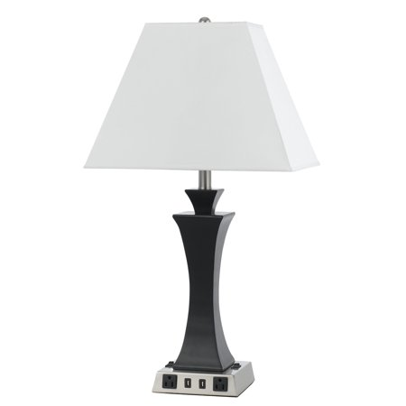 Cal Lighting La-8021Ns-5R Night Stand 2 Light Buffet Table Lamp - Silver