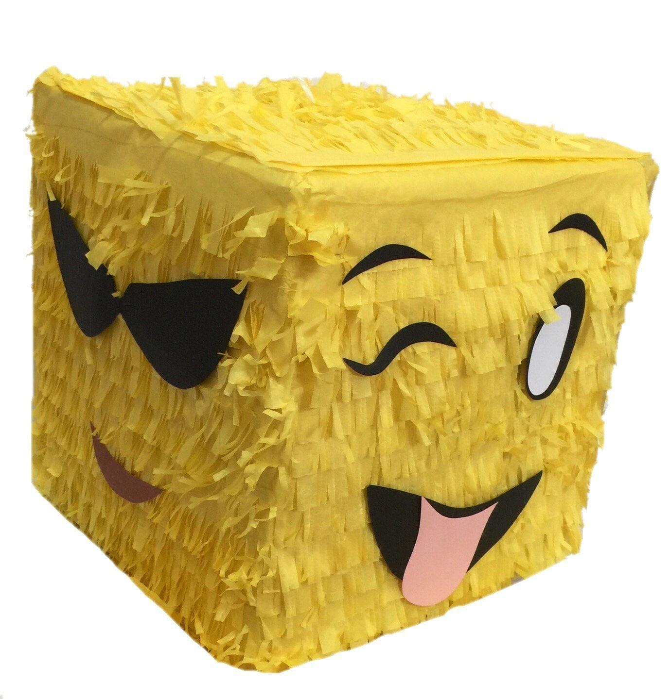 Multi-Emoticon Pinata Cube Shape