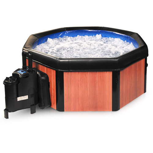 notice spa intex cheap hydropool swim spa installed into a stone deck notice the wood hatch for. Black Bedroom Furniture Sets. Home Design Ideas