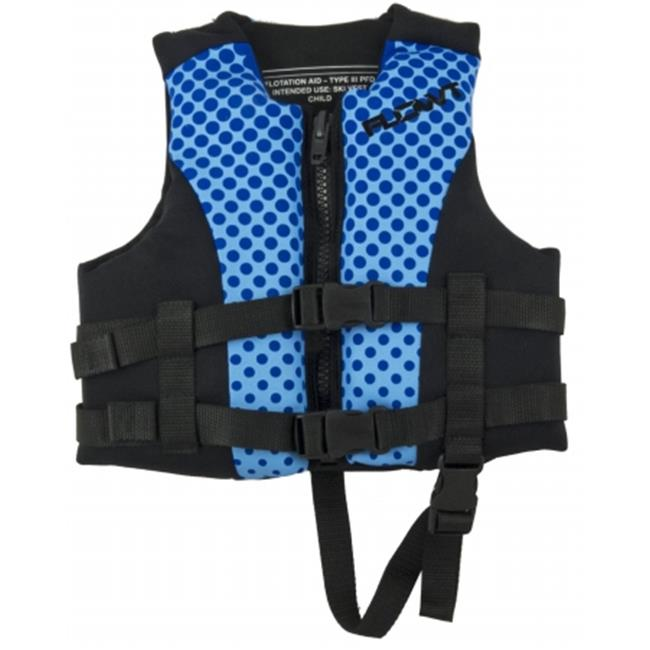 All Purpose Character, Blue Lightweight Neoprene, EPE foam; Youth Life Vest by Flowt