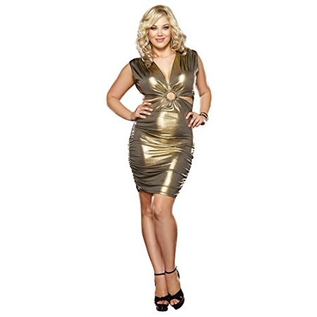Dreamgirl - 9371X Women\'s Plus Size Gold Rush Cut Out Club ...