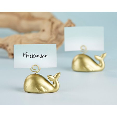 Gold Whale Place Card Holder (Set of 6)](Halloween Place Card Holders)