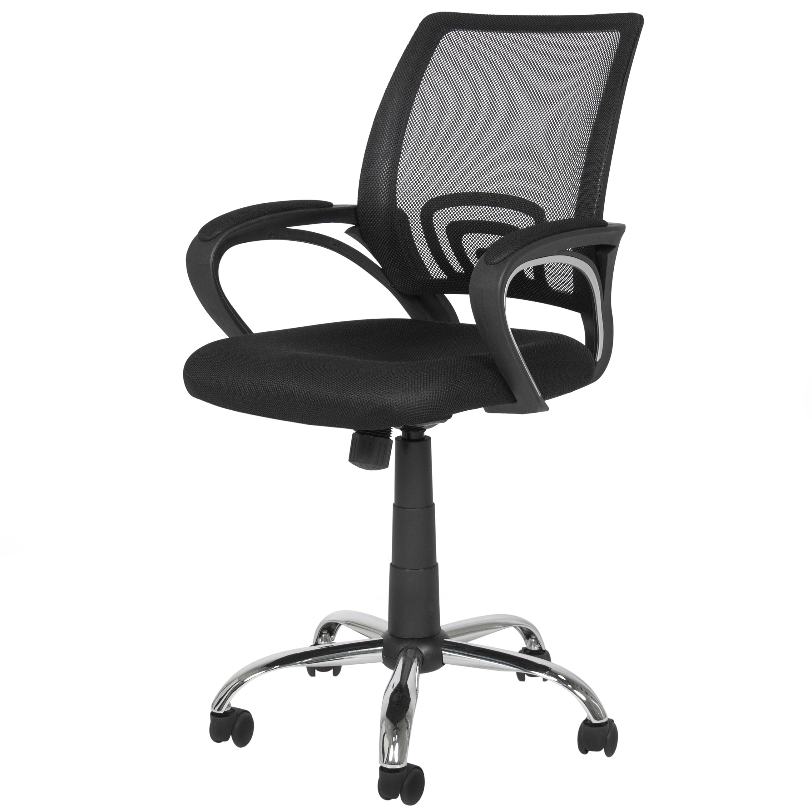 Uncategorized office desk chair casters - Best Choice Products Ergonomic Mesh Computer Office Desk Task Midback Task Chair W Metal Base New Walmart Com