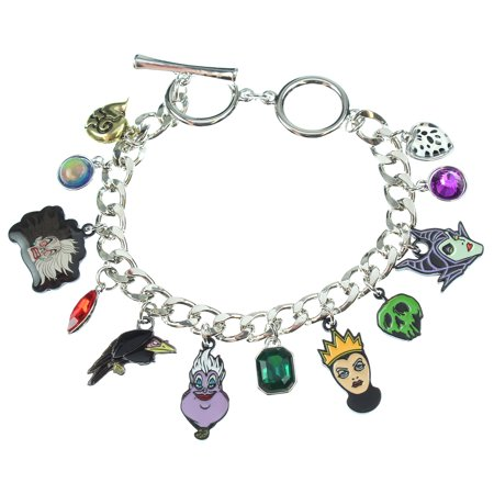 Disney 12 Charm Bracelet Jewelry Villains Maleficent Ursula