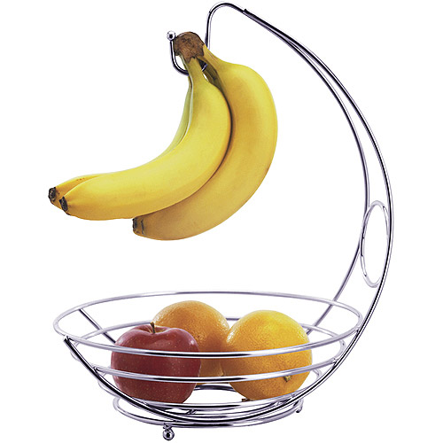 Progressive International Fruit Bowl with Hook, Chrome Wire