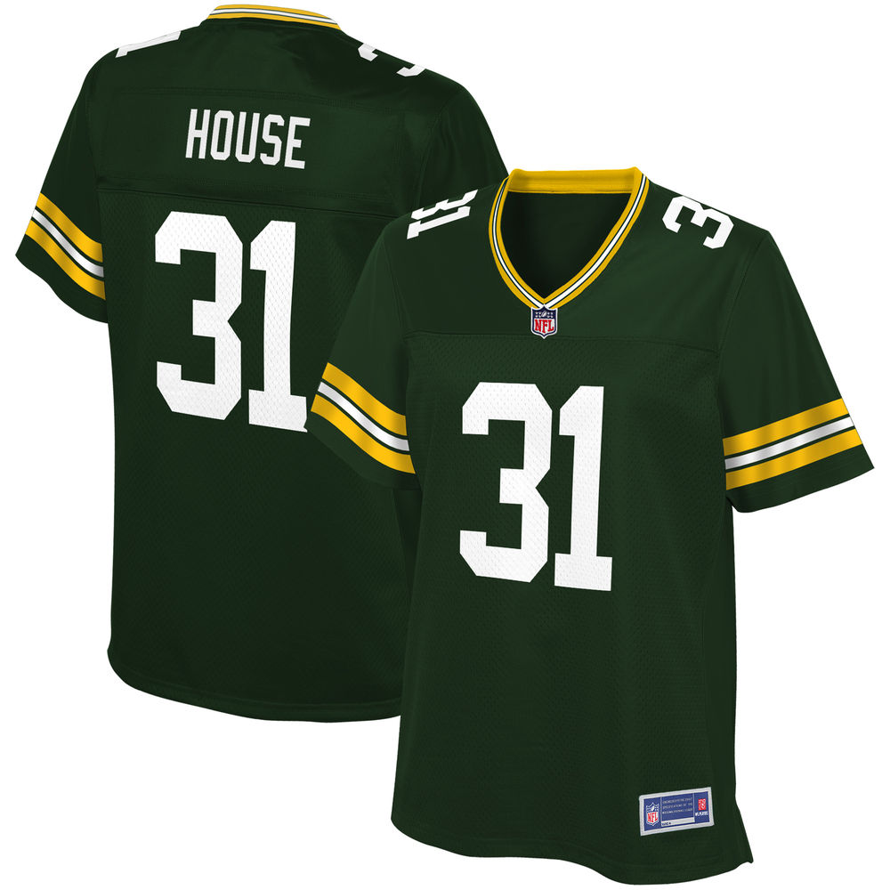 Women's Green Bay Packers Davon House NFL Pro Line Green Team Color Player Jersey