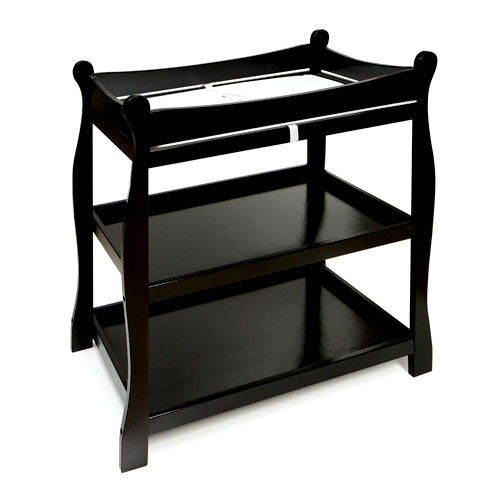 Badger Basket   Sleigh Style Changing Table, Black