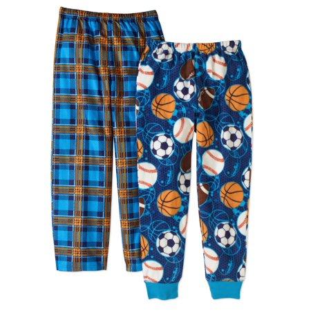 Komar Boys' Kids Sports / Plaid 2Pack Pajama Pant Set