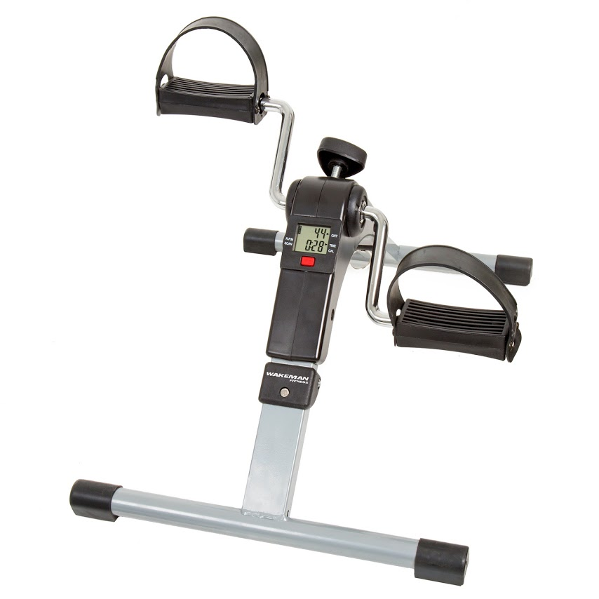 Wakeman Portable Folding Fitness Pedal, Stationary Desk Bike