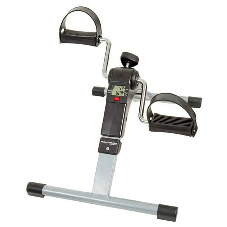 Portable Folding Fitness Pedal Stationary Under Desk Indoor Exercise Bike with Calorie Counter by