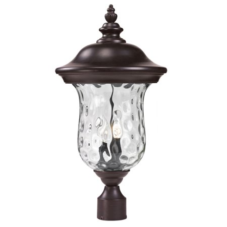 Outdoor Accessory 2 Light With Bronze Finish Aluminum Candelabra Base Bulb 10 inch 120 Watts