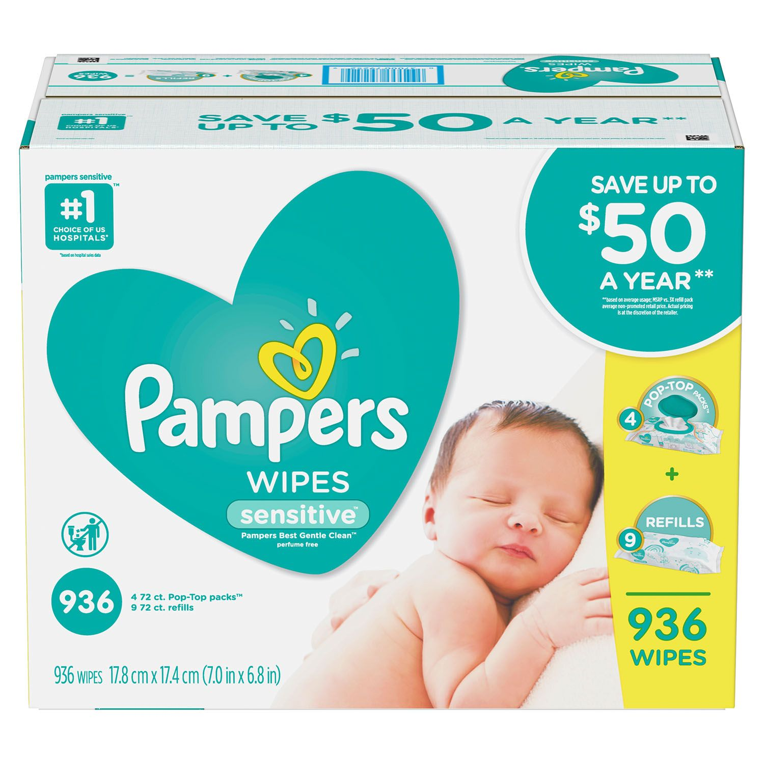 Pampers Sensitive Baby Wipes (936 ct.) - Sold & shipped Only by Discount Market Place