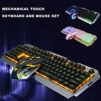 V1 USB Wired Ergonomic Backlit Mechanical Feel Gaming Keyboard&Mouse Set