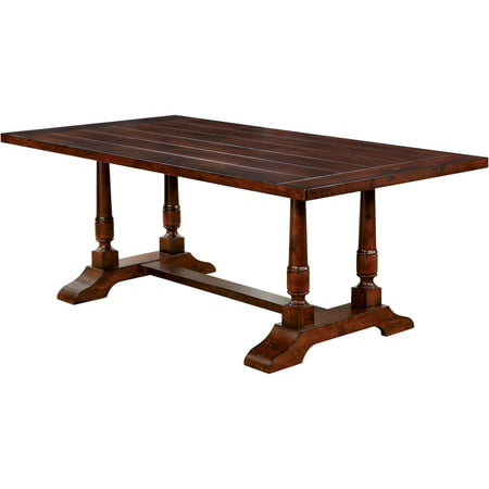 Furniture of America Safiya Transitional Dining Table, Brown Cherry ()