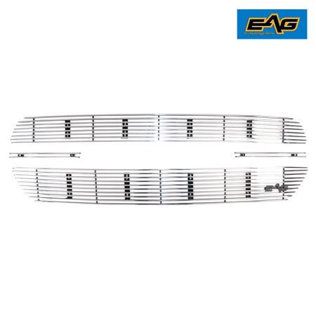 EAG EAG Billet Grille Aluminum Polished Overlay 4PC for 19-20 Dodge Ram 1500