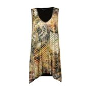 Karen Kane Women's Sleeveless Knit Canyon Print Tank Top