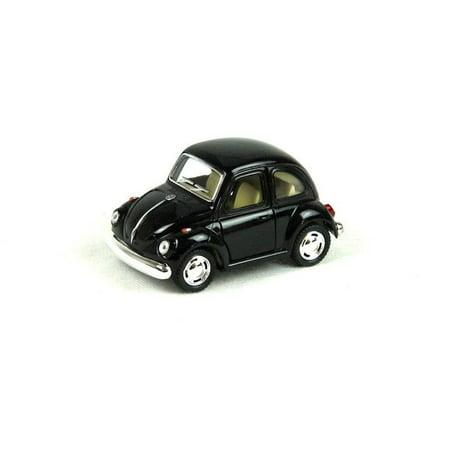 "4"" Kinsmart 1967 VW Volkswagen Beetle Diecast Model Toy Car Not to Scale Black"