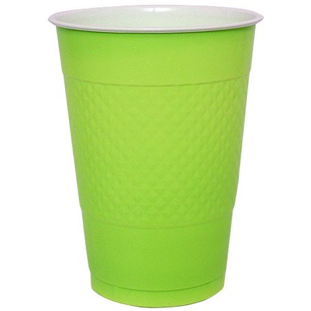 Hanna K Plastic Cups, 16 Oz, Lime Green, 50 Ct