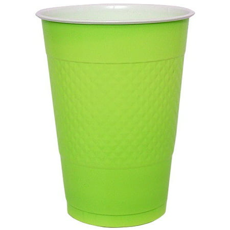 Hanna K Plastic Cups, 16 Oz, Lime Green, 50 - Plastic Cups For Sale