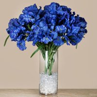 36 Artificial Iris Flowers Wedding Vase Centerpiece Floral Decor - Blue