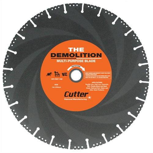 Cutter Diamond 12'' - 14'' Demolition Specialty Diamond Blade