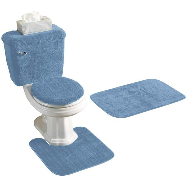 Bathroom Rug Set 5 Piece Nonslip With, Five Piece Bathroom Rug Sets