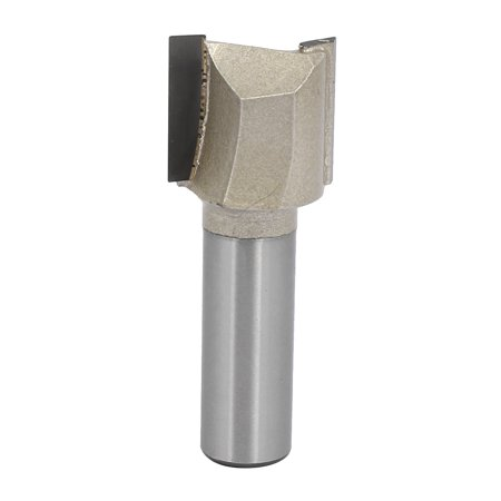 """7/8"""" Dia by 20mm Depth Double Flute Carbide Tip Straight Router Bit, 1/2"""" Shank"""