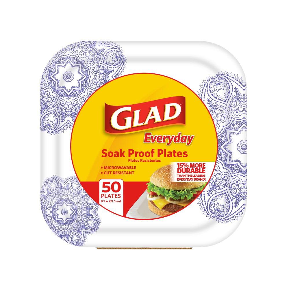 "Glad Paper Plates, 8.5"", Purple, 50 Ct"