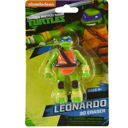 TMNT Ninja Turtles 3D Eraser on Card on Blister Card, TMNT Ninja Turtles 3D Eraser on Card on Blister Card By Skyhigh International Ship from US - 3d Erasers