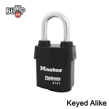 Master Lock - 6121NKALF-1 - One (1) High Security Pro Series Padlock w/ BumpStop Technology