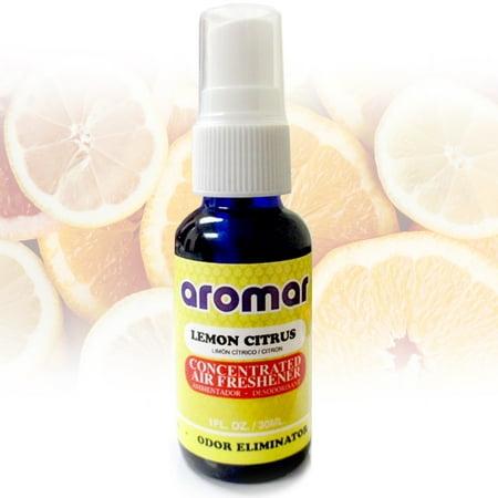 1 Lemon Citrus Air Freshener Spray Concentrated Home Car Room Odor (Room Freshener Lemon)