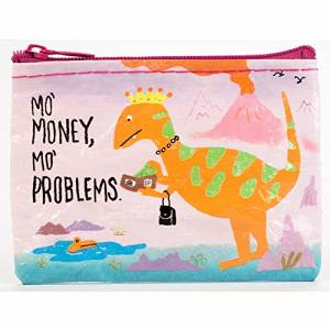 "Coin Purse - Blue Q - Mo Money Mo Problems 4x3"" Wallet Bag QA564"