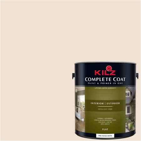 KILZ COMPLETE COAT Interior/Exterior Paint & Primer in One #LJ170 Baked Custard - Bake On Paint