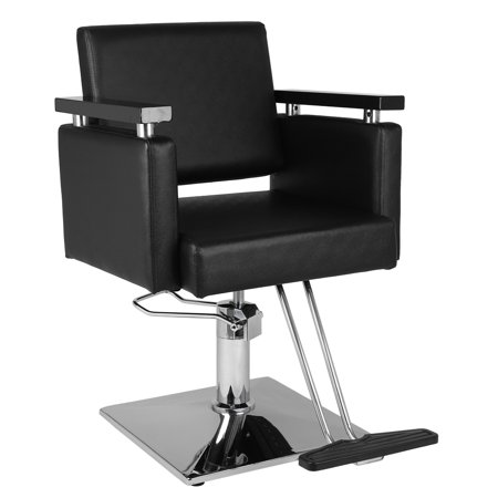 UBesGoo Heavy Duty Barber Chair, Classic Hydraulic 360 Degrees Rolling Swivel Hair Salon Spa Equipment, with Foot Rest and Square -