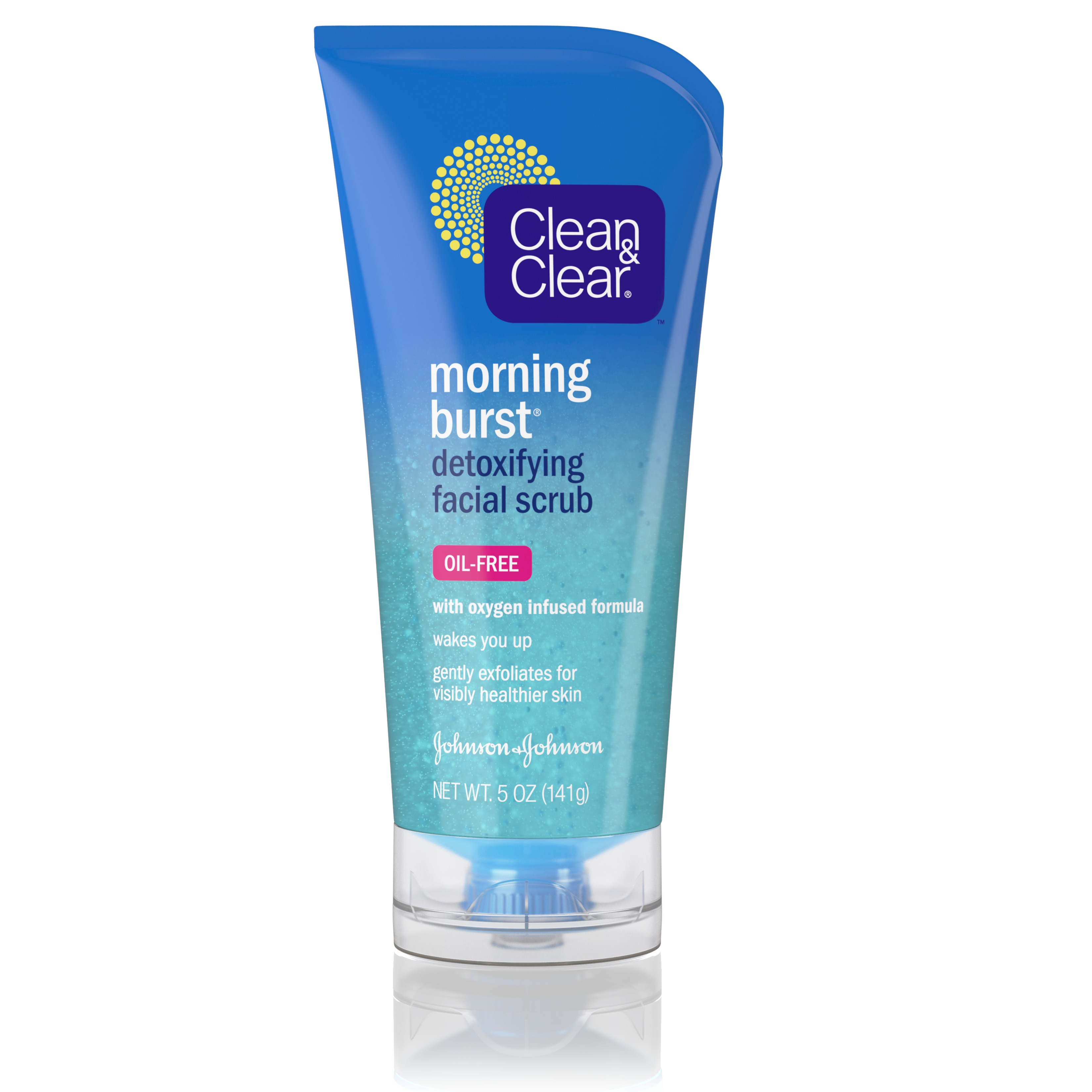 Clean & Clear Morning Burst Detoxifying Facial Scrub For Clear Skin , 5 Fl. Oz.