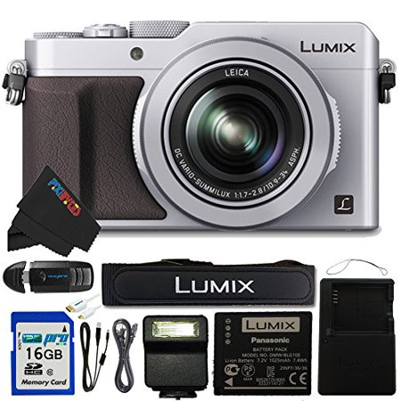 """Panasonic PANLX100SL-16GB4PC 16.8 Digital Camera with Optical Image Stabilized Zoom and 3"""" LCD (Silver)"""