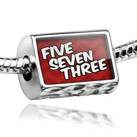 Bead 573 Columbia, MO red Charm Fits All European Bracelets