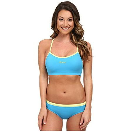 Zoot Sports Women's Interval Swim Set Maliblue/Honeydew Swimsuit Set LG