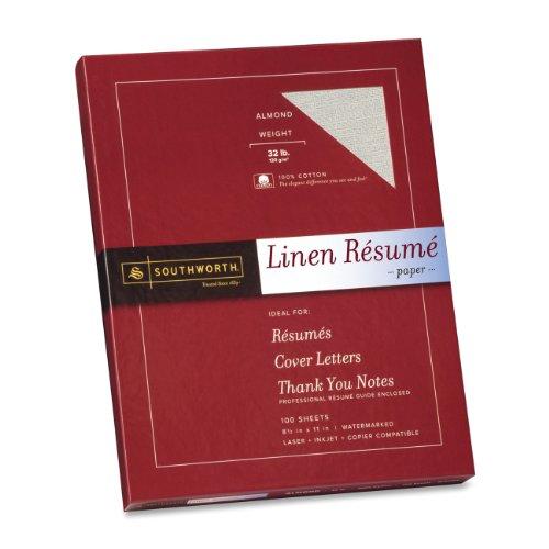 "Southworth Premium Copy & Multipurpose Paper - Letter - 8.50"" X 11"" - 32 Lb - Recycled - Linen - 100 / Box - Almond (RD18ACFLN)"