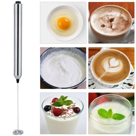 Battery Operated Electric Fence (Ejoyous Electric Milk Frother,Milk Frother,Kitchen Stainless Steel Handheld Battery Operated Electric Coffee Milk Frother with Spoon)