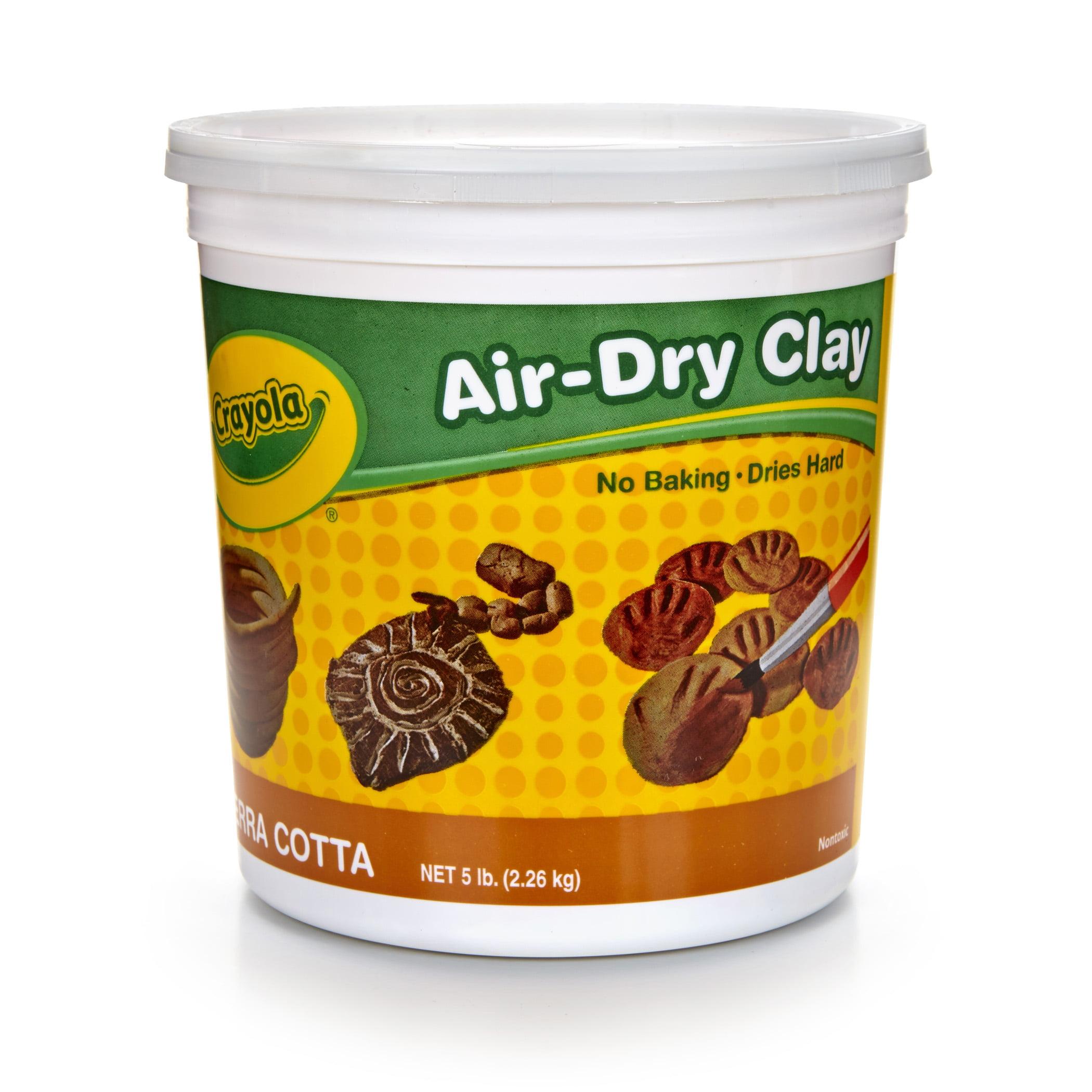 Crayola Air-Dry Clay, 5 Lb Tub, Terra Cotta