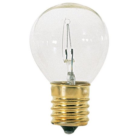 Satco S3630 25W S11 Clear E17 Intermediate Base Incandescent bulb