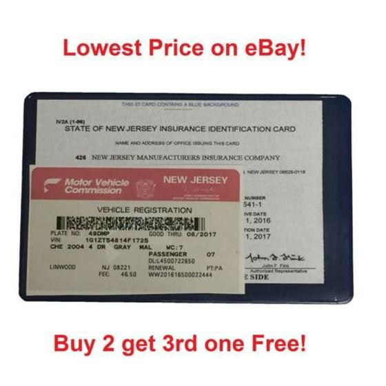 1 (one) AUTO CAR TRUCK INSURANCE REGISTRATION ID CARD CASE WALLET HOLDER - Walmart.com