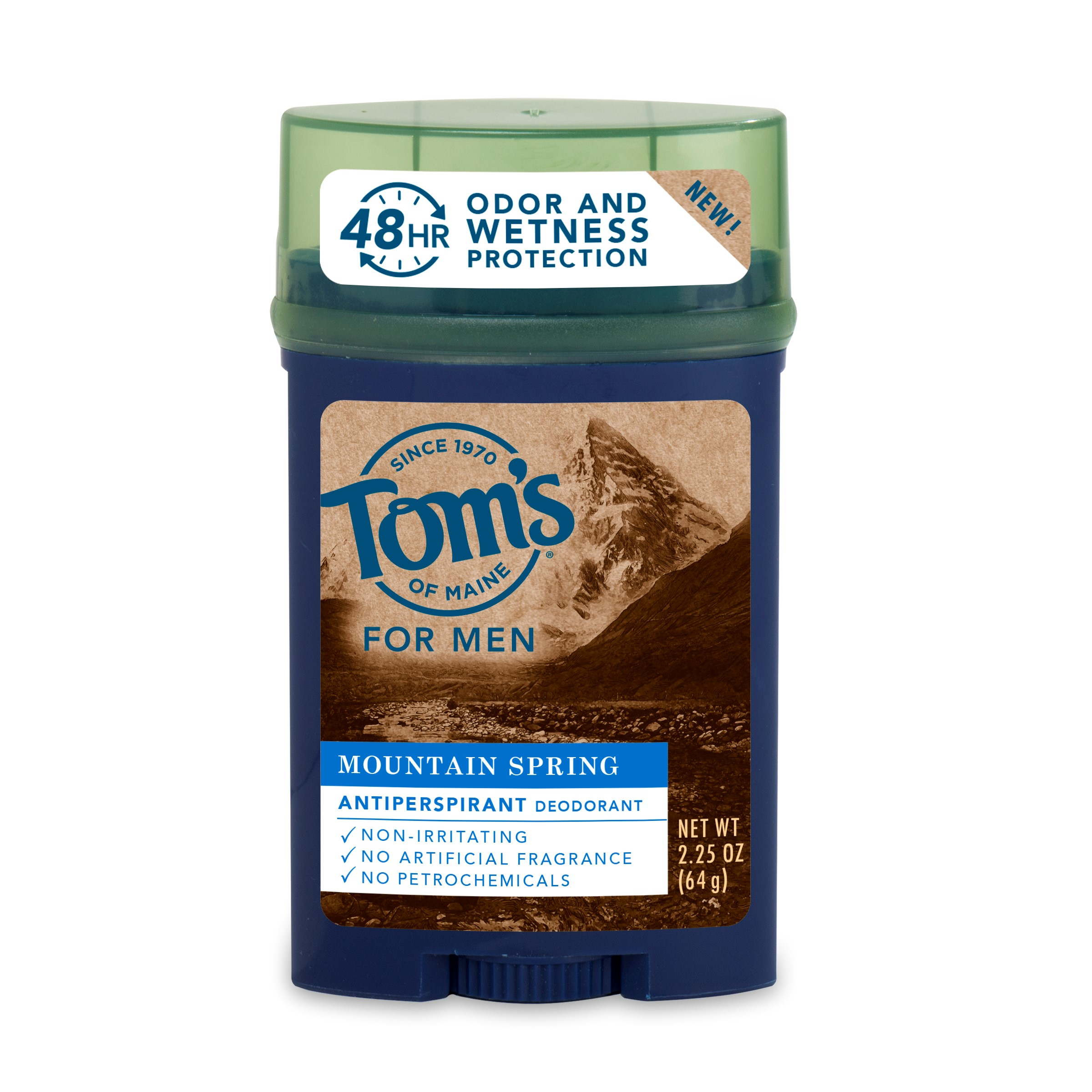 Tom's of Maine Men's Antiperspirant, Mountain Spring, 2.25oz