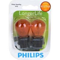 Philips Longerlife Miniature 4157Nall, Amber, Push Type, Always Change In Pairs!