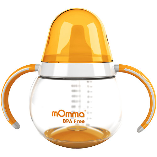 Lansinoh - mOmma Spill-Proof Cup with Dual Handles, BPA-Free, Orange