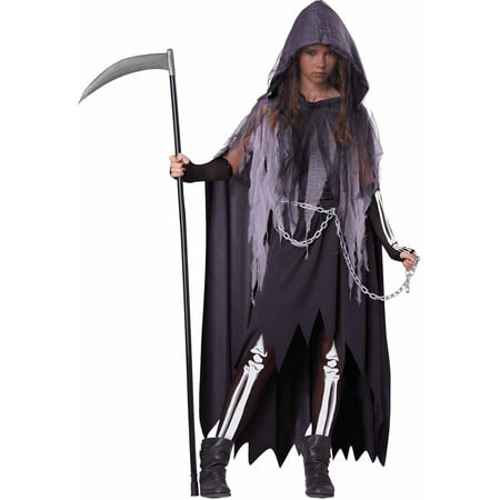 Miss Reaper Teen Halloween Costume - Rapper Costume For Girls