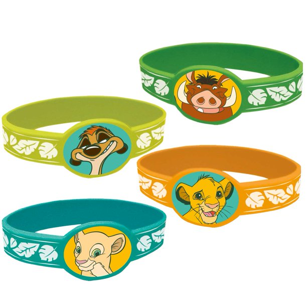 Disney Lion King Stretchy Bracelets Party Favors, 4ct