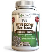100% Pure White Kidney Bean Extract 1800mg serving (200 Capsules) Best Carb