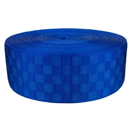 - 3 Inch Royal Blue Checkerboard Heavy Nylon Webbing Closeout